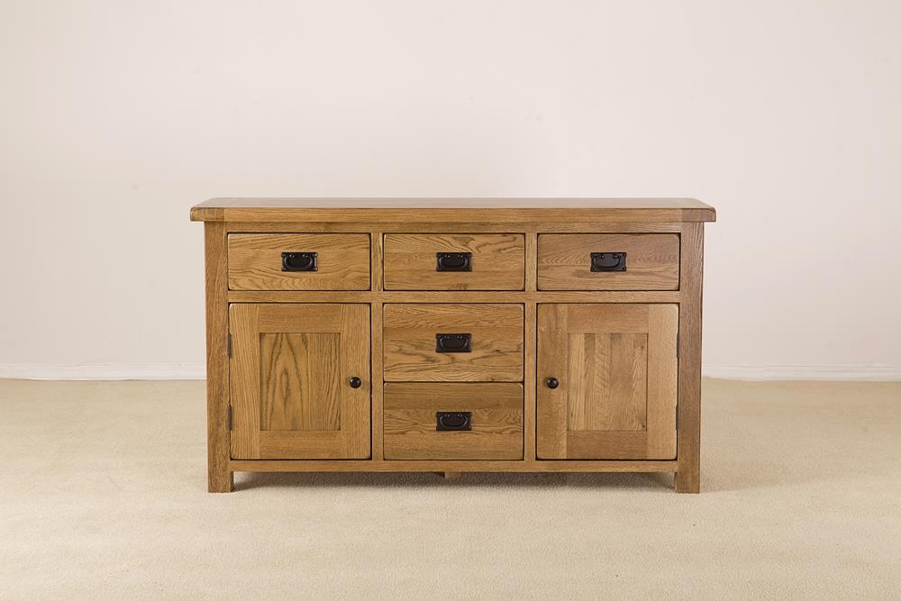 Rustic Oak Large Dresser Base