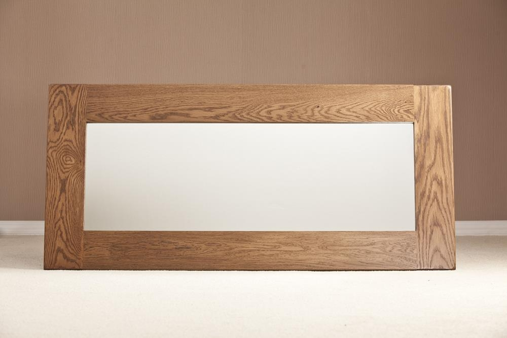 Rustic Oak Rectangular Wall Mirror - 130cm x 60cm