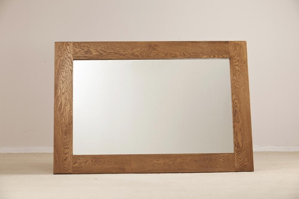 Rustic Solid Oak Wall Mirror - 130 x 90