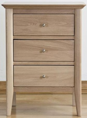 Sorrento Oak Bedside Cabinet - 3 Drawer