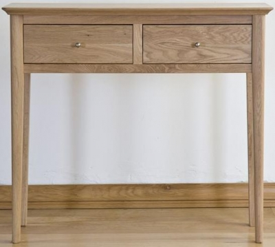 Sorrento Oak Console Table - 2 Drawer
