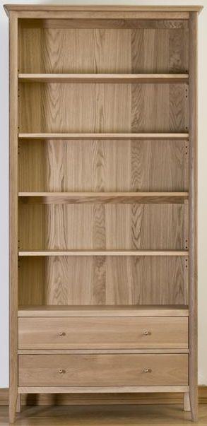Sorrento Oak Bookcase with 1 Drawer