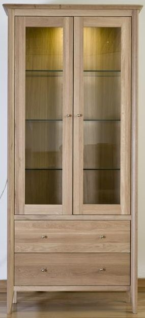 Sorrento Oak Glass Display Cabinet