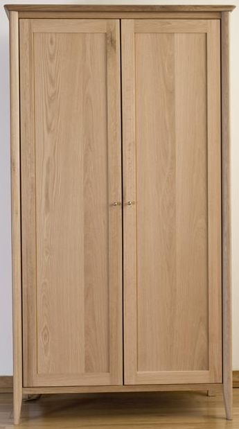 Sorrento Solid Oak Wardrobe - 2 Door Ladies