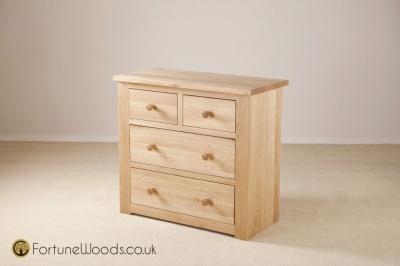 Tavistock Oak Chest of Drawer - 2+2 Drawer