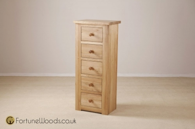 Tavistock Oak Chest of Drawer - 5 Drawer Wellington