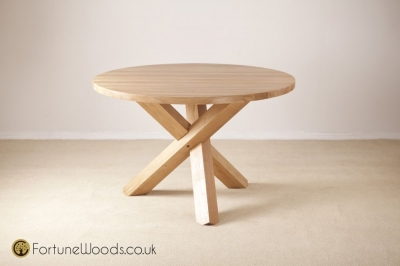 Tavistock Oak Dining Table - Fixed Round