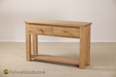 Tavistock Oak Hall Table - 2 Drawer