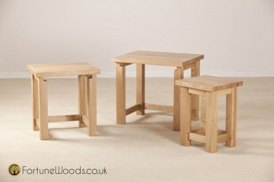 Tavistock Oak Nest of Tables