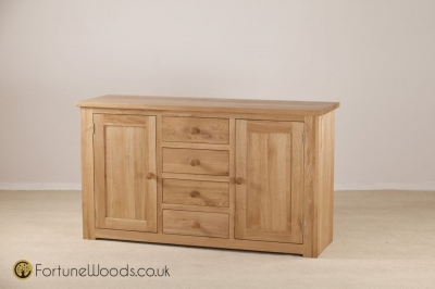 Tavistock Oak Sideboard - 2 Door 4 Drawer