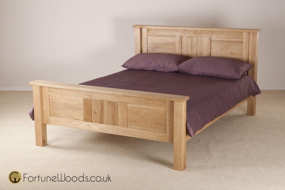 Tavistock Solid Oak Bed - High Foot End