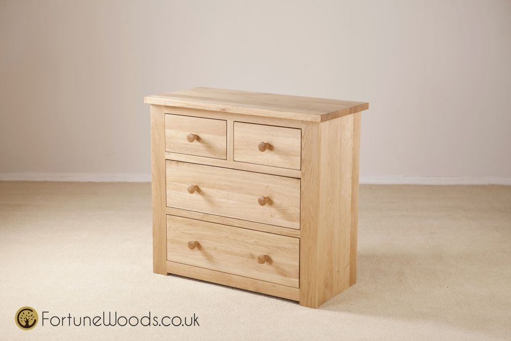 Tavistock Solid Oak 2+2 Drawer Chest