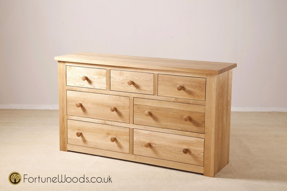 Tavistock Solid Oak Chest of Drawer - 3+4 Drawer