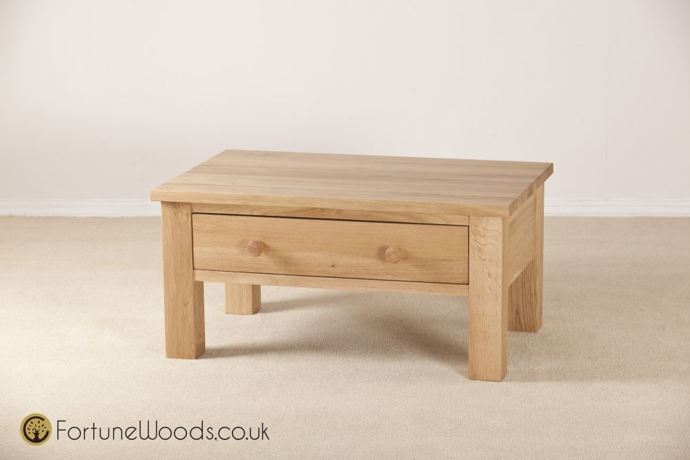 Tavistock Solid Oak Storage Coffee Table - 1 Drawer