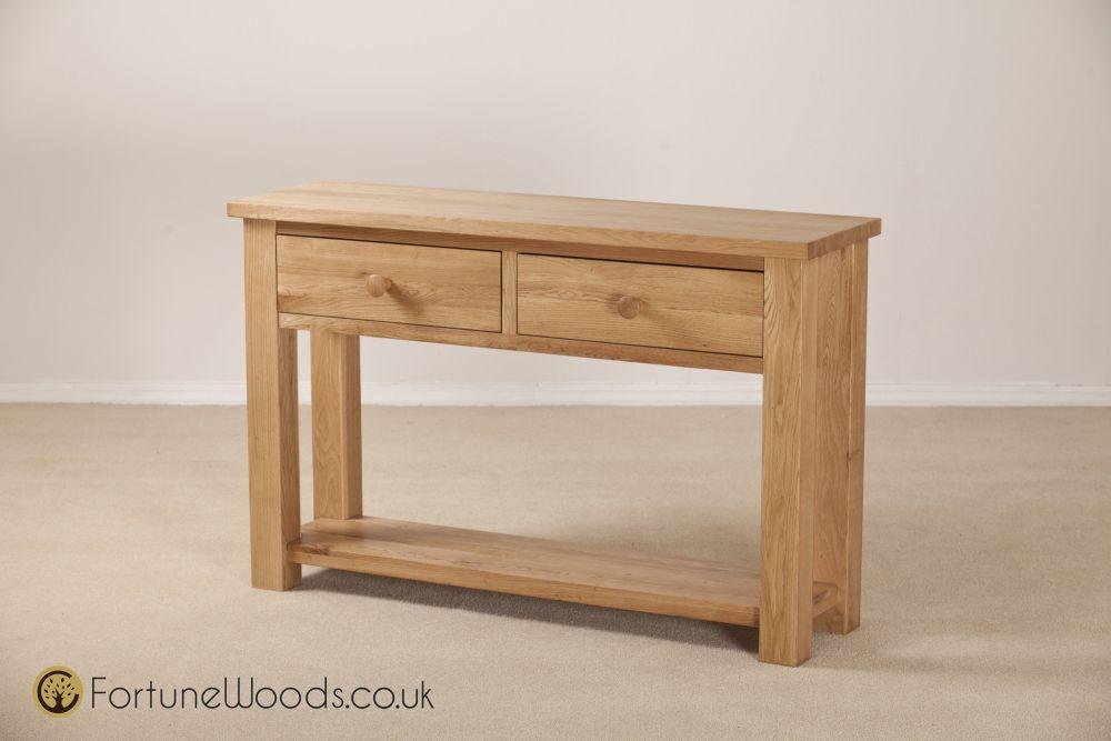 Tavistock Oak Hall Table - 2 Drawer