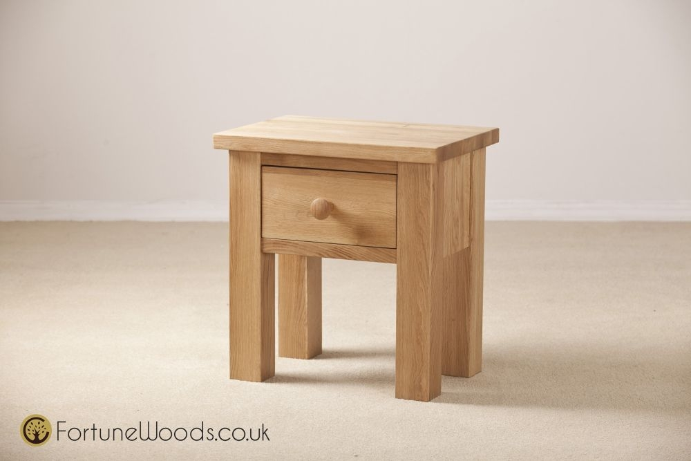 Tavistock Solid Oak 1 Drawer Lamp Table
