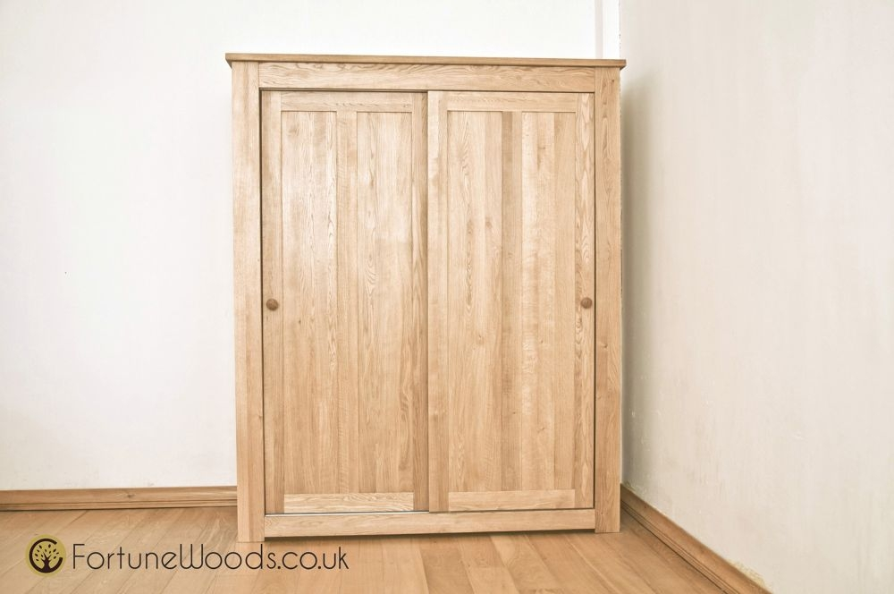 Tavistock Solid Oak 2 Door Sliding Double Wardrobe