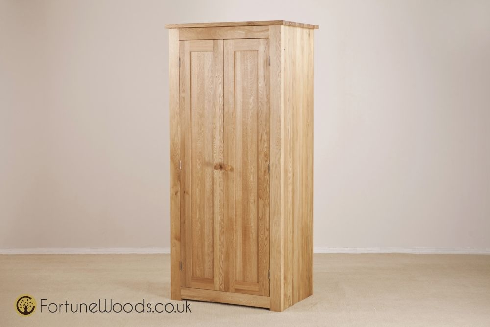 Tavistock Solid Oak 2 Door Double Wardrobe