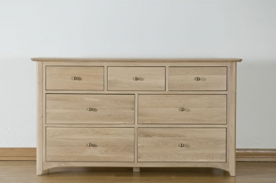 Toulouse Oak Chest of Drawer - 3 Over 4 Drawer