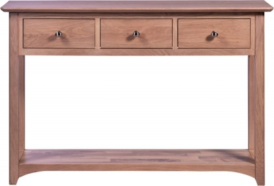Toulouse Oak 3 Drawer Console Table