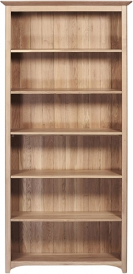 Toulouse Oak Tall Wide Bookcase