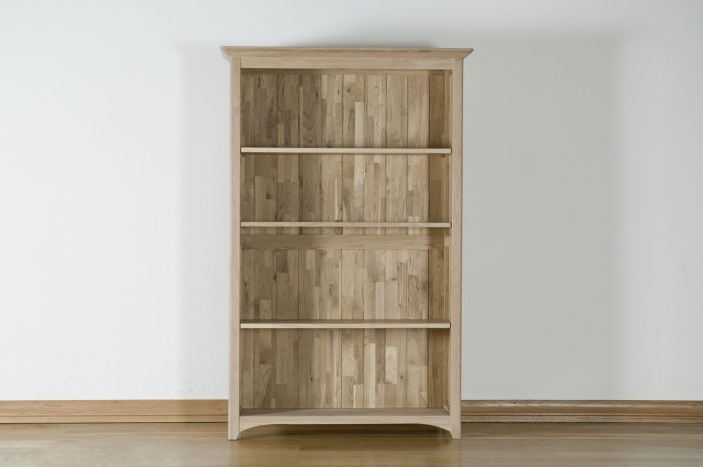 Toulouse Solid Oak 5ft Bookcase