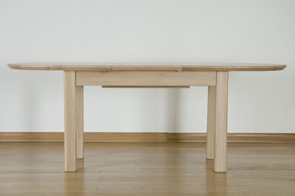 Toulouse Solid Oak D End Oval Extending Dining Table