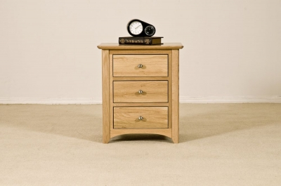 Tuscany Oak Bedside Cabinet - 3 Drawer