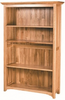 Tuscany Oak Wide Bookcase