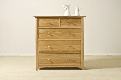 Tuscany Oak Chest of Drawer - 3+2 Drawer