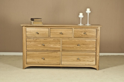 Tuscany Oak 3+4 Drawer Chest