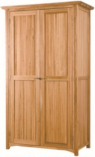Tuscany Oak 2 Door Wardrobe