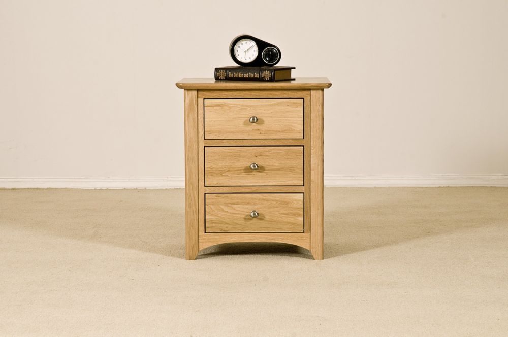 Tuscany Solid Oak Bedside Cabinet - 3 Drawer