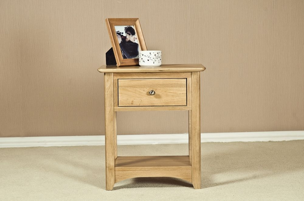 Tuscany Oak Bedside Table