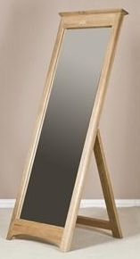 Tuscany Oak Cheval Mirror