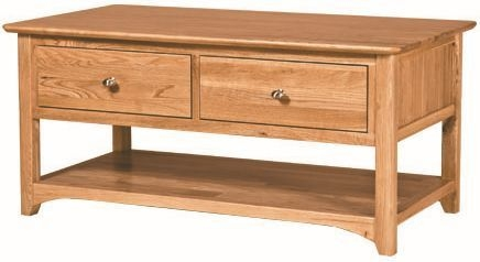 Tuscany Oak Coffee Table with Drawer