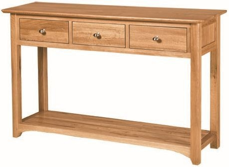 Tuscany Oak Console Table with 3 Drawer