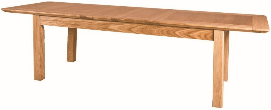 Tuscany Solid Oak Dining Table - 203.4cm-269.8cm Rectangular Extending