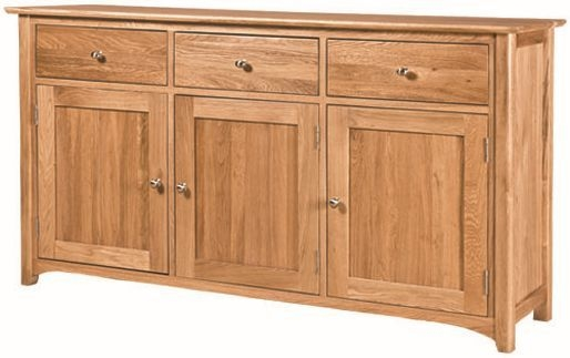 Tuscany Solid Oak Sideboard - Large Wide 3 Door 3 Drawer