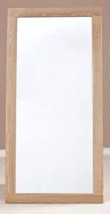 Tuscany Oak Rectangular Wall Mirror - 130cm x 60cm