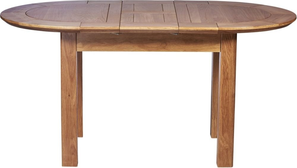 Tuscany Oak Small D-End Extending Dining Table