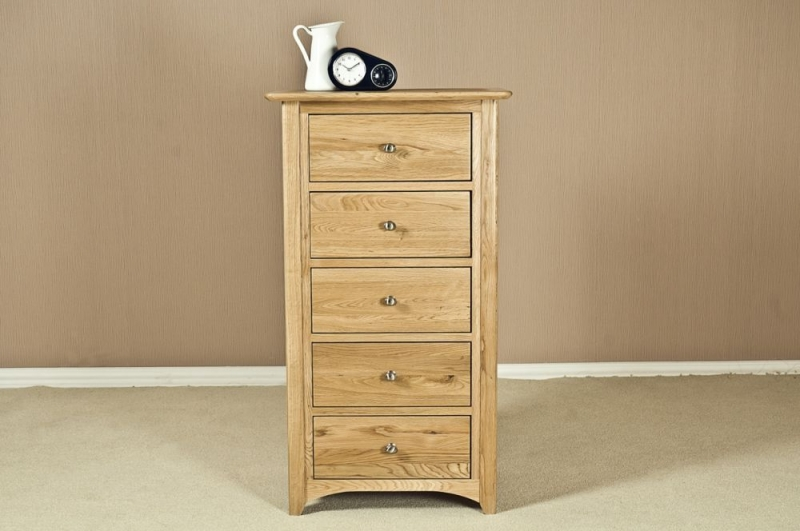 Tuscany Oak 5 Drawer Chest