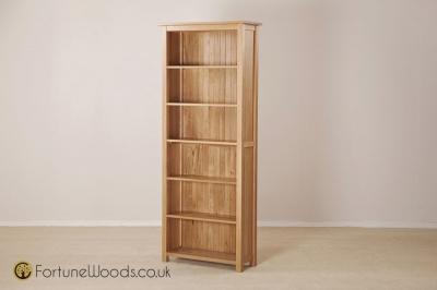 Windsor Oak Bookcase - 6ft