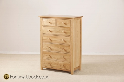 Windsor Oak Chest of Drawer - 5+2 Drawer