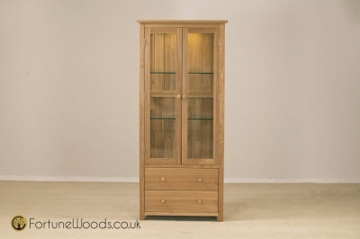 Windsor Oak Glass Display Cabinet
