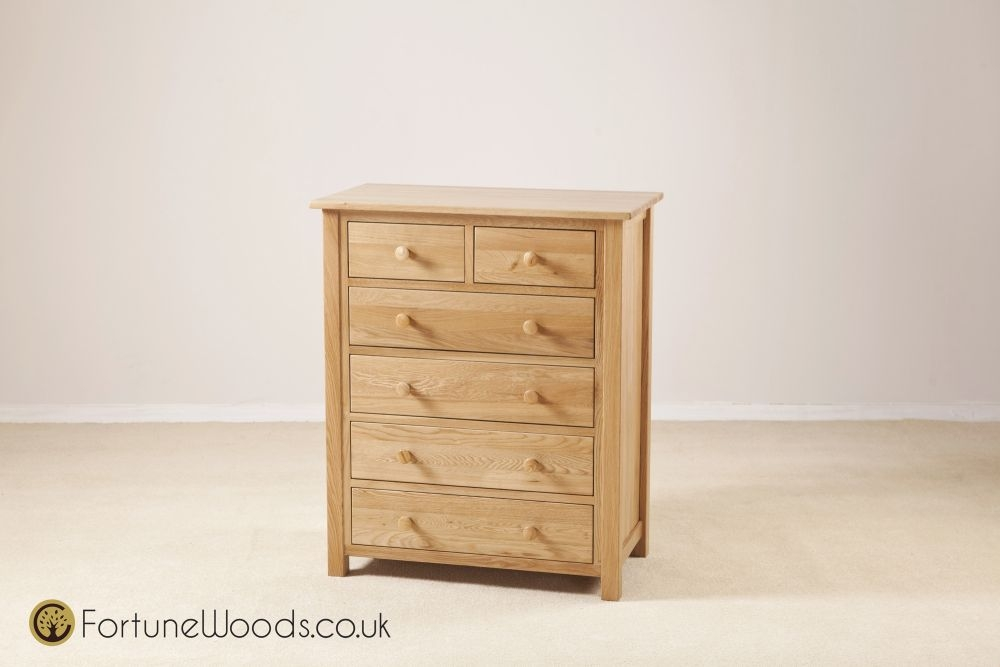Windsor Oak Chest of Drawer - 4+2 Drawer