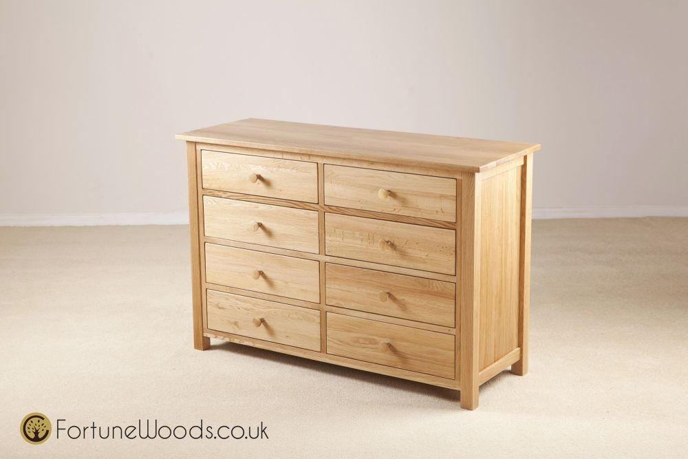 Windsor Oak Chest of Drawer - 8 Drawer Combination