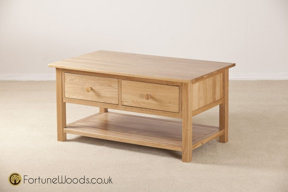 Windsor Oak 2 Drawer Storage Coffee Table
