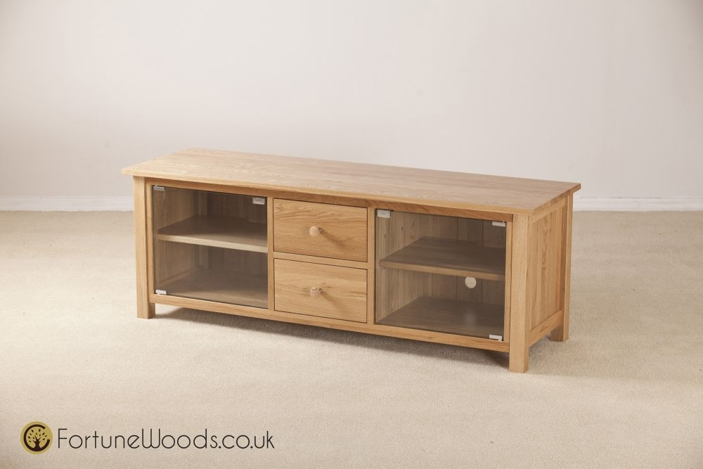 Windsor Oak TV Unit - Long