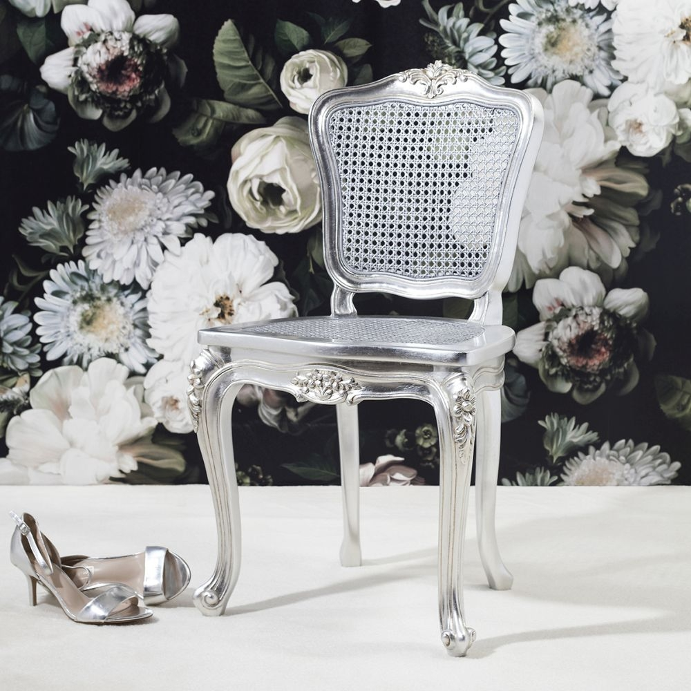 Frank Hudson Alexandria Silver Leaf Bedroom Chair